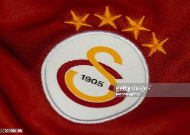 Logo of Galatasaray Football Club is seen in Ankara Turkey on July 25 2018