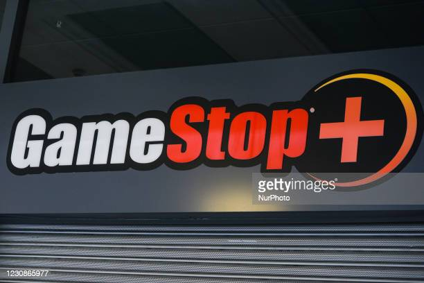 Logo of GameStop seen in Stephen's Green Shopping Centre in Dublin. In January 2021, a short squeeze caused GameStop stock to surge 1,500 percent in...