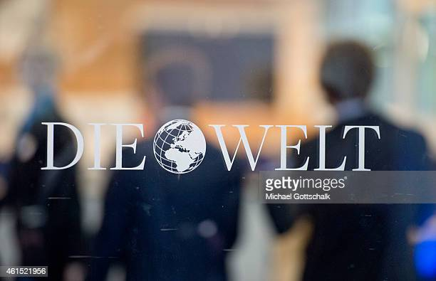 Logo of German Newspaper Die Welt at the entrance to their editorial Office on January 14 2015 in Berlin Germany