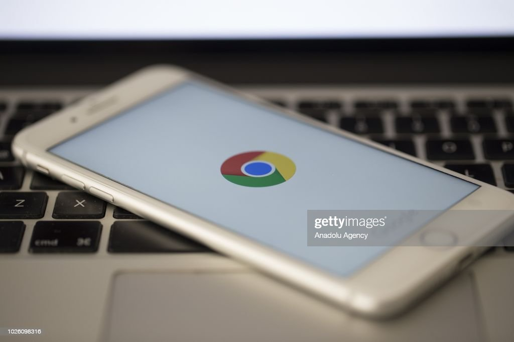 google turkey office. Logo Of Google Chrome Is Seen On A Screen Smart Phone In Ankara, Turkey Office