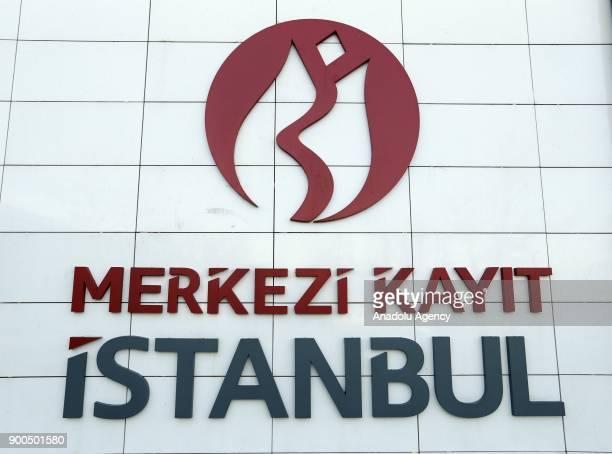 Logo of Merkezi Kayit Istanbul is seen in Istanbul Turkey on January 02 2018