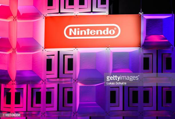 Logo of Nintendo is seen during the press day at the 2019 Gamescom gaming trade fair on August 20, 2019 in Cologne, Germany. Gamescom 2019, the...