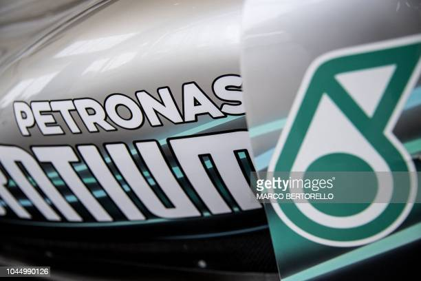 A logo of Petronas is displayed at the Petronas Global Research and Technology Centre in Villastellone near Turin on August 29 2018