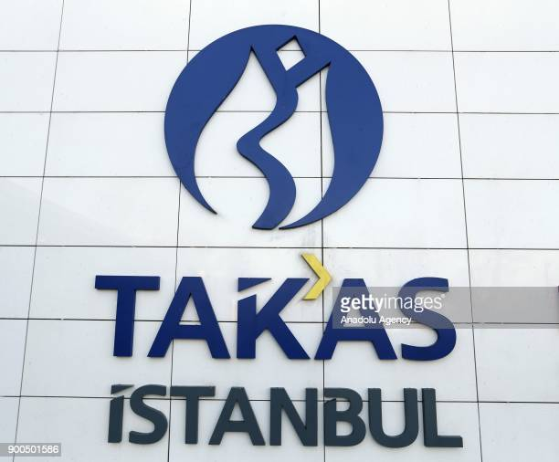 Logo of Takas Istanbul is seen in Istanbul Turkey on January 02 2018