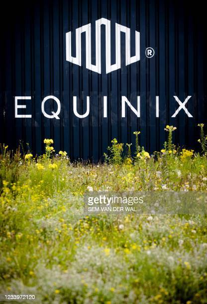 Logo of the American the Internet connection and data center company Equinix in Amsterdam on July 14, 2021. - Netherlands OUT / Netherlands OUT
