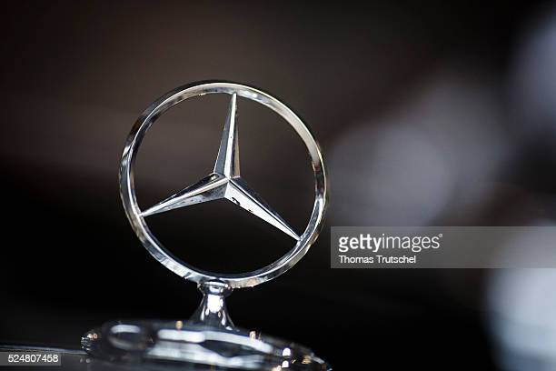 Logo of the automaker Mercedes Benz on April 26 2016 in Berlin Germany