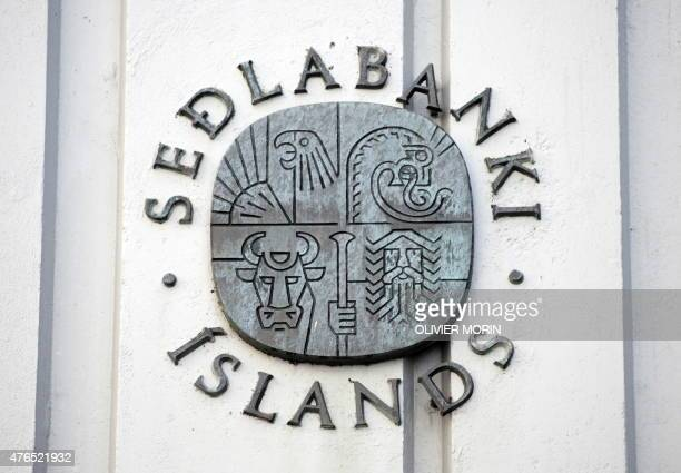 Logo Of The Central Bank Iceland On October 9 2008 In Reykjavik S