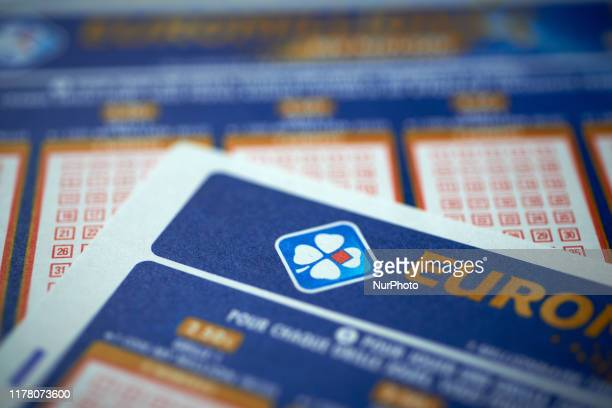 Logo of the FDJ on a EuroMillions ticket. The French government, which currently owns 72% of FDJ, has decided to take the company public and sell off...