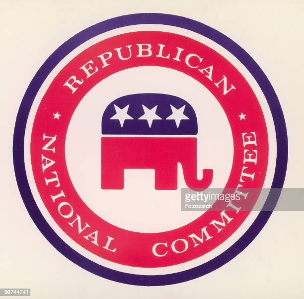 Logo of the Republican National Committee featuring an elephant the traditional mascot of the party USA date unknown