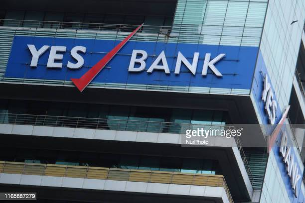 A Logo of the Yes Bank is seen on the head office building in Mumbai India on 03 September 2019