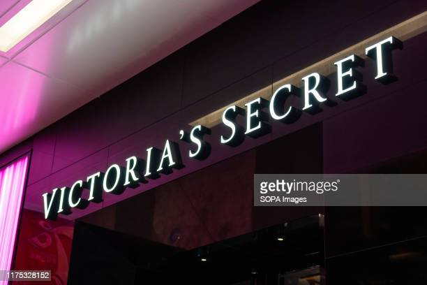 A logo of Victoria's Secret an American designer manufacturer and marketer of women's lingerie womenwear and beauty products seen in Shenzhen