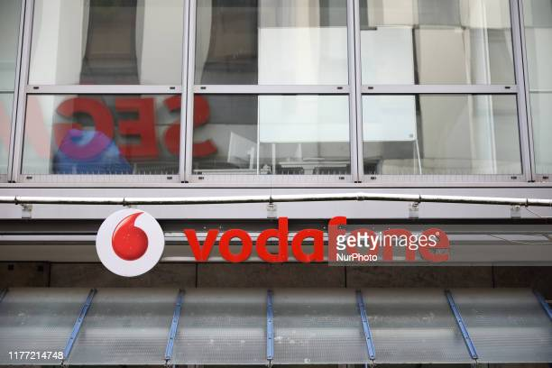 Logo of Vodafone Shop is seen in Stuttgart, Germany on October 20, 2019