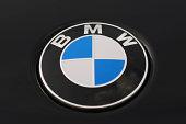 BMW Logo on a Black Car 5 Series