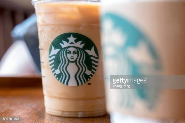 Logo on a cup of Starbuck coffee Starbucks 2017 Q2 earnings report shows that the profit from China / Asia Pacific grew by 36% in the future China...