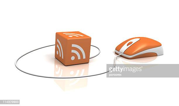 RSS Logo on Cube with Computer Mouse
