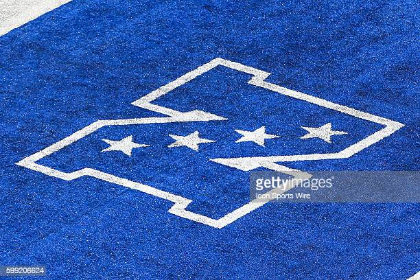 NFC logo on the field during the first quarter of the game between the New York Giants and the Atlanta Falcons played at MetLife Stadium in East...