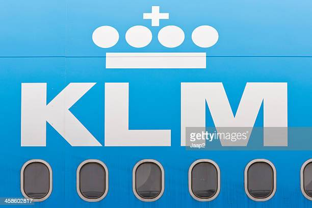 KLM logo on the fuselage of a plane