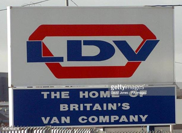 LDV logo outside the company's plant in Washwood Heath Birmingham Friday December 16 2005 Plans for the financial restructuring of the company are...