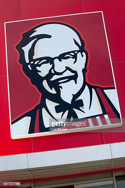 kfc logo - kentucky fried chicken stock photos and pictures