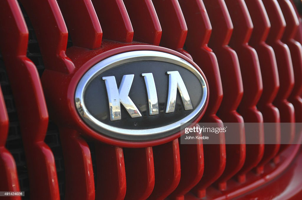 KIA logo radiator badge is pictured on October 4, 2015 in Southend on Sea, England.