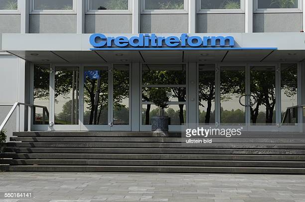Logo Schriftzug der Creditreform die Creditreform Unternehmensgruppe agiert als Wirtschaftsauskunftei und InkassoDienstleister in Köln