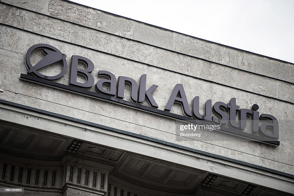 A Logo Sits Above The Entrance To Unicredit Bank Austria Ags