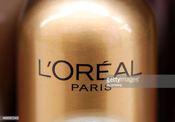 A logo sits on a can of L'Oreal Sublime Bronze tanning spray manufactured by L'Oreal SA inside a supermarket in London UK on Tuesday Feb 11 2014...