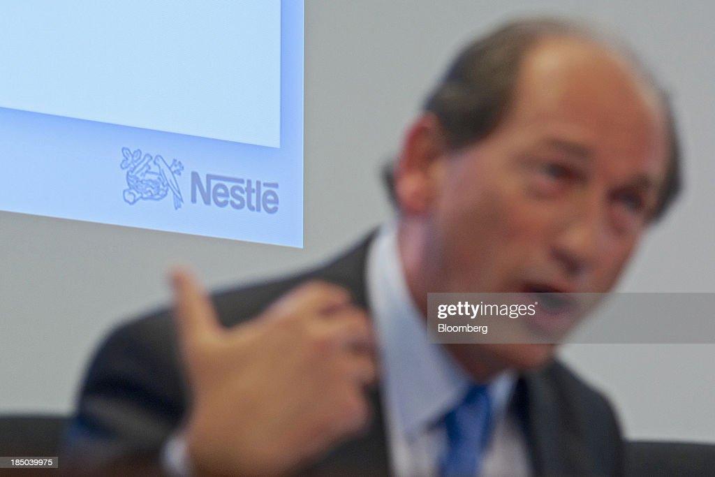 Nestle SA Chief Executive Officer Paul Bulcke News Conference