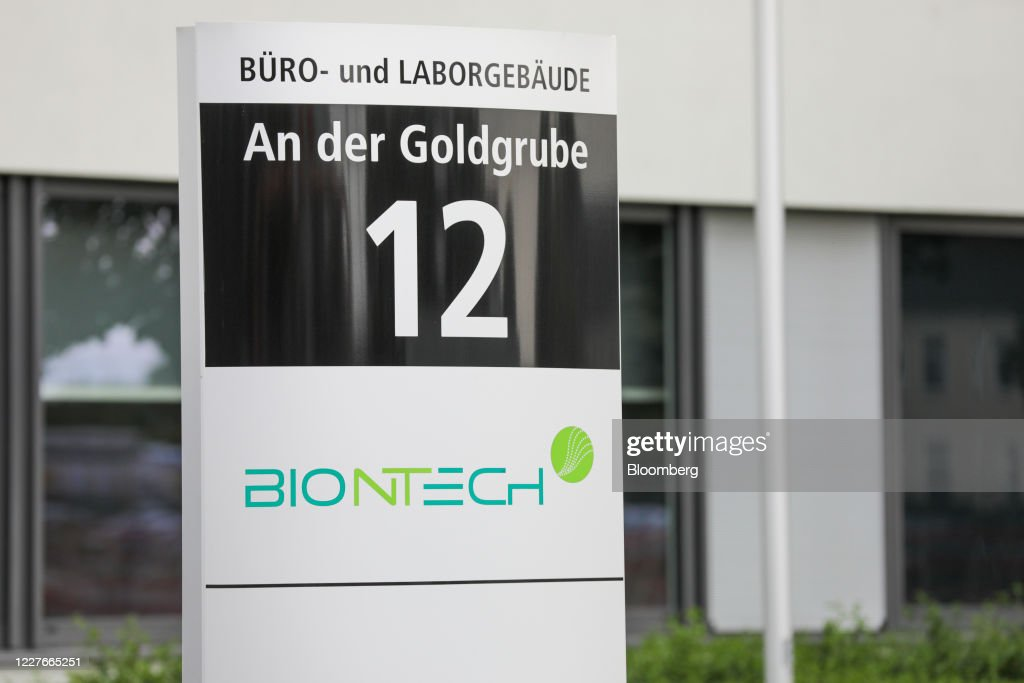 A Logo Sits On A Sign Outside The Headquarters Of Biontech Se In News Photo Getty Images
