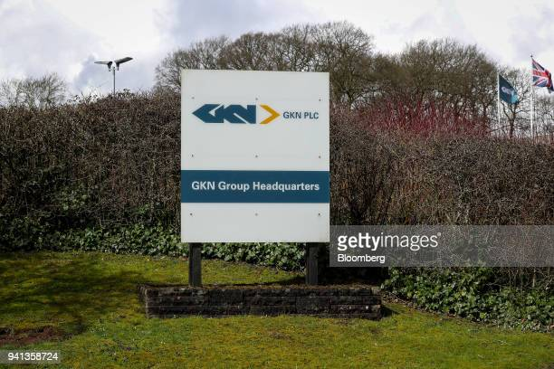 A logo sits on display outside GKN Plc's company headquarters in Redditch UK on Tuesday April 3 2018 Yet another corporate headache has landed on UK...