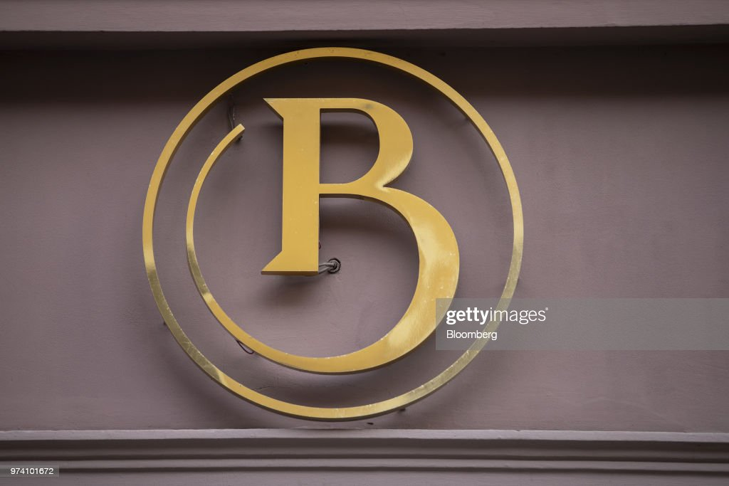 A logo sits on display outside the headquarters of the Baltic International Bank AS in Riga, Latvia, on Wednesday, June 13, 2018. Latvia's plans to kick out risky cash from its scandal-plagued banks are about to accelerate. Photographer: Jasper Juinen/Bloomberg via Getty Images