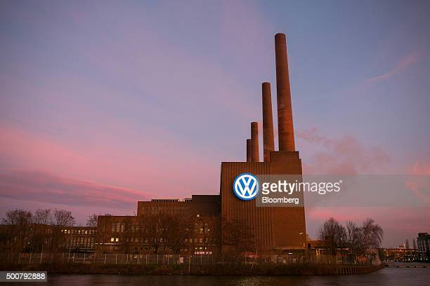 A VW logo sits on display outside the power plant at the Volkswagen AG headquarters in Wolfsburg Germany on Thursday Dec 10 2015 Volkswagen Chief...
