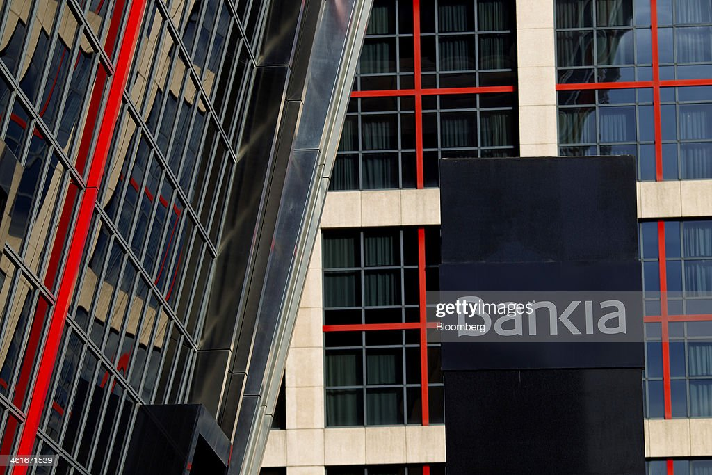 Bankia SA Branches And Headquarters As Bank Lures Foreigners With $1.4 Billion First Debt Sale : News Photo