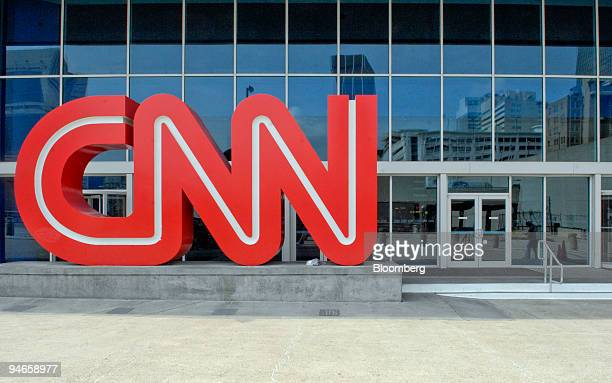 CNN logo stands outside the CNN Center on Tuesday April 3 2007 in Atlanta Georgia