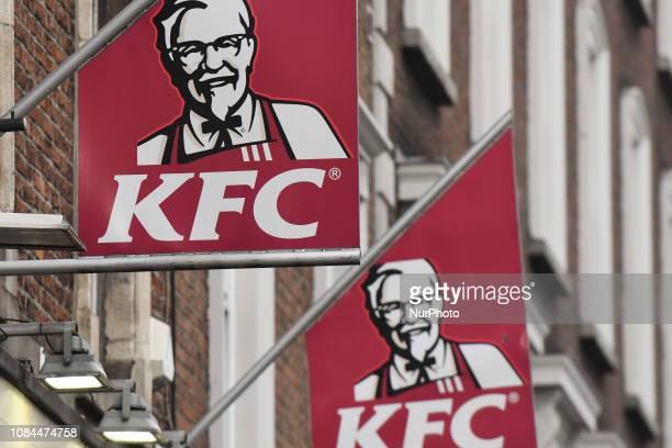 KFC logos in Dublin's City Center On Thursday January 17 in Dublin Ireland
