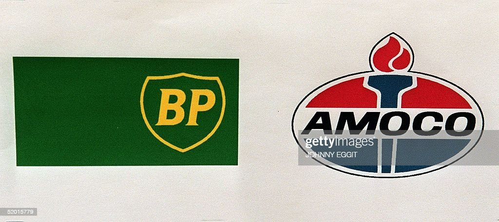 Logos Of British Petroleum And Us Oil Giant Amoco The Companies