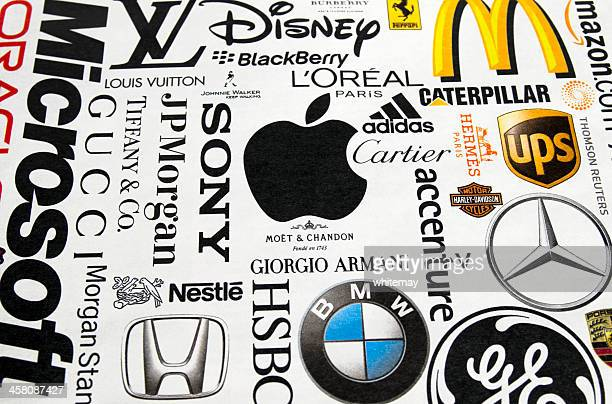 Logos printed in a magazine