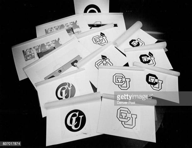 Logos Trademarks Colorado University possible CU logo designs blockcontemporarysome with flames some withoutsome colored in Credit The Denver Post