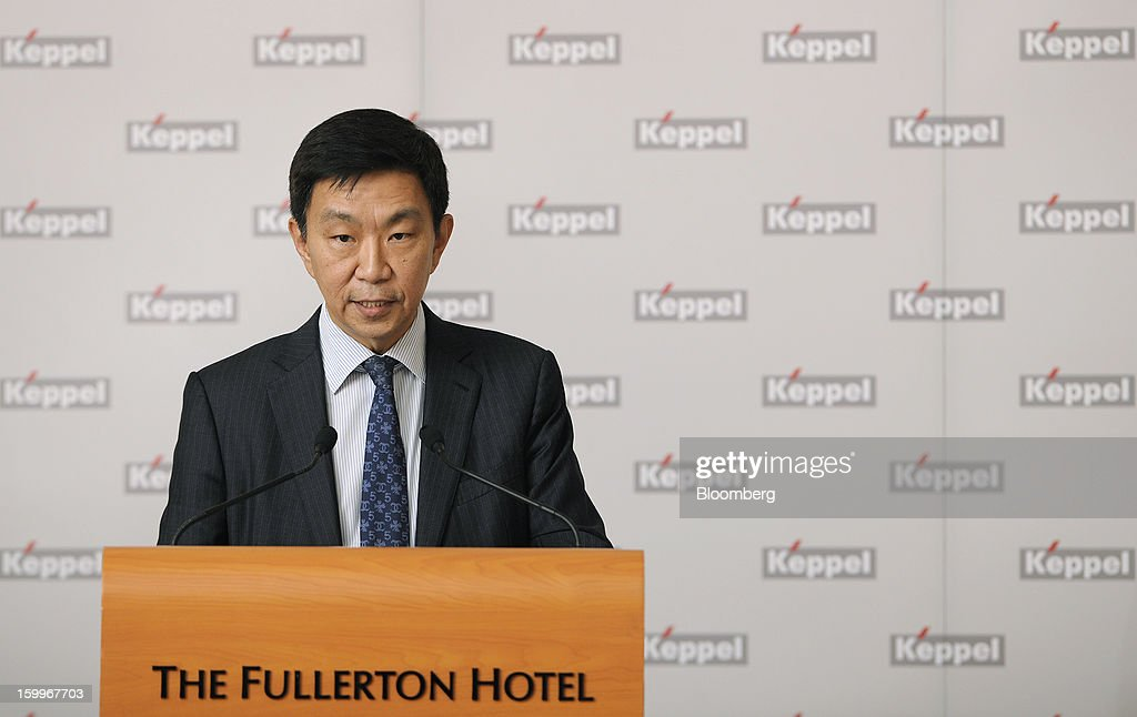 Loh Chin Hua, chief financial officer of Keppel Corp., speaks during a news conference in Singapore, on Thursday, Jan. 24, 2013. Keppel Corp., the world's largest oil-rig maker, posted a 22 percent decline in fourth-quarter profit after contribution from the marine unit fell and higher competition with Chinese shipbuilders depressed margins. Photographer: Munshi Ahmed/Bloomberg via Getty Images