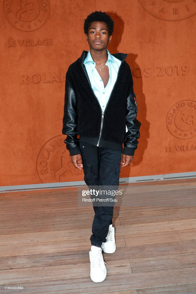 Loic Bilong attends the 2019 French Tennis Open - Day Thirteen at