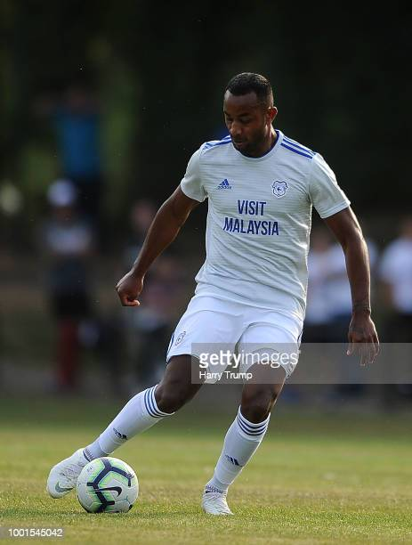 Loic Damour of Cardiff City during the PreSeason Friendly match between Bodmin Town and Cardiff City at Priory Park on July 18 2018 in Bodmin England