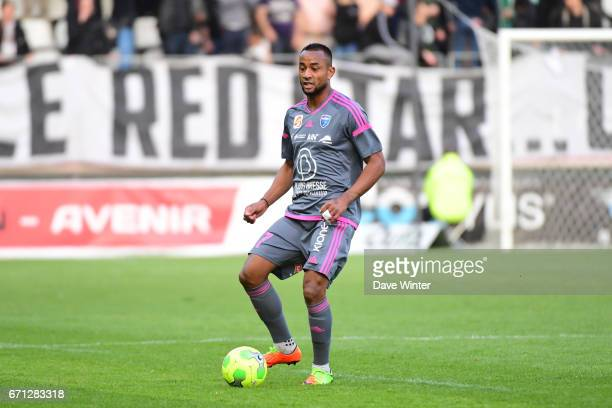Loic Damour of FBBP 01 during the Ligue 2 match between Red Star FC and Bourg en Bresse at Stade Jean Bouin on April 21 2017 in Paris France