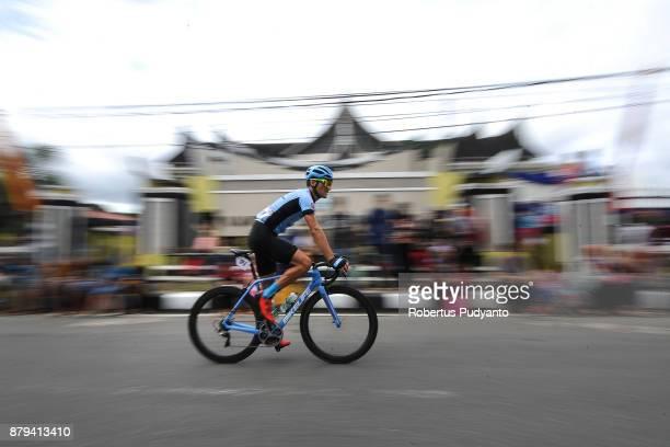 Loic Desriac of France and BDN Bike LifeDong Nai Vietnam competes during stage 9 of the Tour de Singkarak 2017 PasamanBukittinggi 1172 km on November...