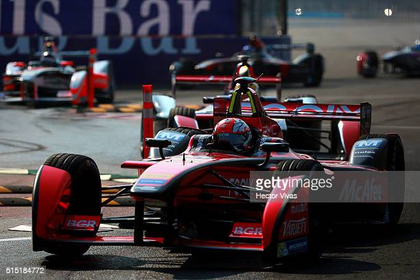 Loic Duval of France and Dragon Racing competes during the Mexico City Formula E Championship 2016 at Autodromo Hermanos Rodriguez on March12, 2016...