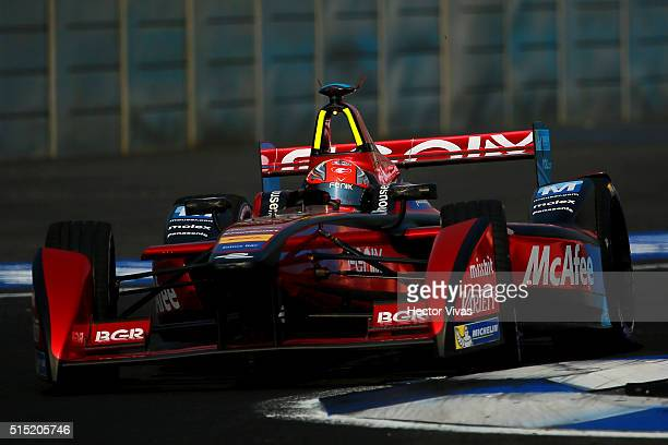 Loic Duval of France and Dragon Racing during the Mexico City Formula E Championship 2016 at Autodromo Hermanos Rodriguez on March12, 2016 in Mexico...
