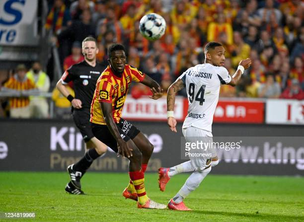 Loic Lapoussin forward of Union St-Gilloise during the Jupiler Pro League match between KV Mechelen and Union at the AFAS stadium on august 22, 2021...