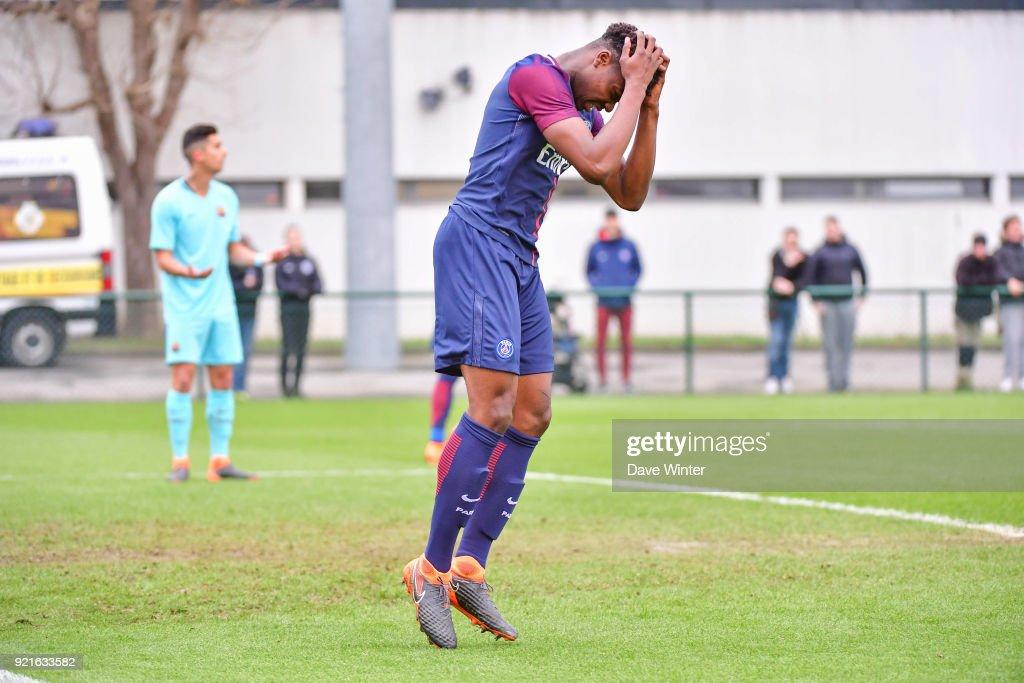 Paris Saint-Germain v FC Barcelona - Youth League U19 : Foto di attualità