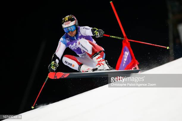 Loic Meillard of Switzerland competes during the Audi FIS Alpine Ski World Cup Men's Parallel Giant Slalom on December 17 2018 in Alta Badia Italy