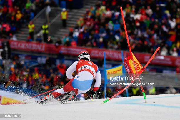 Loic Meillard of Switzerland competes during the Audi FIS Alpine Ski World Cup Men's Giant Slalom on February 2 2020 in Garmisch Partenkirchen Germany