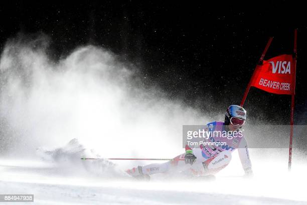 Loic Meillard of Switzerland competes in the Audi Birds of Prey World Cup Men's Giant Slalom on December 3 2017 in Beaver Creek Colorado